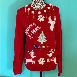 Christmas Holiday Ugly Sweater Kit (Made) M